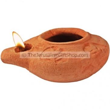 Clay Oil Lamp - Samaria - replica