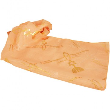 Biblical Scarf - Grafted In Romans 11:19 - Peach