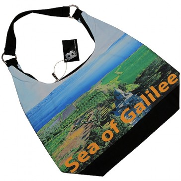Sea of Galilee - Sermon on the Mount - Canvas Hobo Bag - Zipper