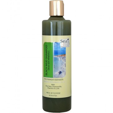 Dead Sea Black Mud Shampoo with Obliphica Oil