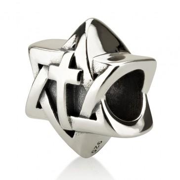'Gracelet Bracelet' Sterling Silver Star of David with Cross