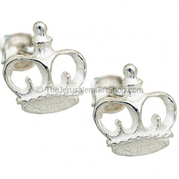 Crown Earrings - Sterling Silver