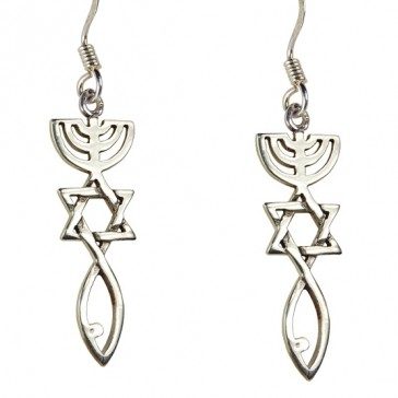 'Grafted In' Messianic Sterling Silver Earrings