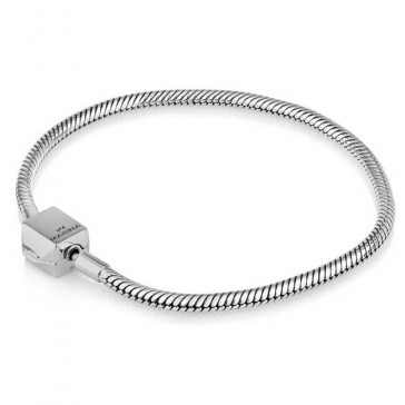 Sterling Silver 'Gracelet Bracelet - Classic Chain with Block-Style Clasp