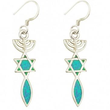 Grafted in Opal Earrings