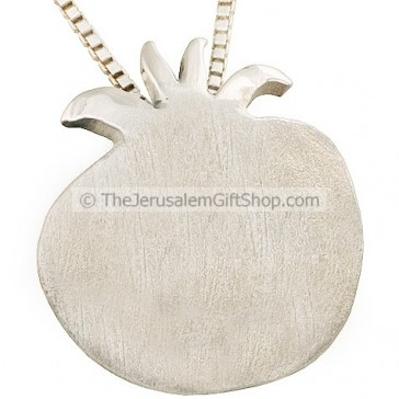 Sterling Silver Pomegranate Pendant - Made in Jerusalem