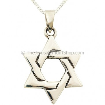 Star of David Silver Lattice Pendant