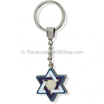 Keychain - Metal Star of David