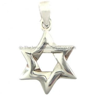 Star of David - Interwoven - Silver Pendant