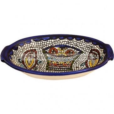 Armenian Ceramic Oval Tabgha Dish