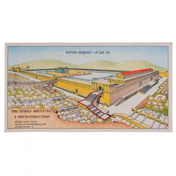 Temple Mount 70AD from the west Poster