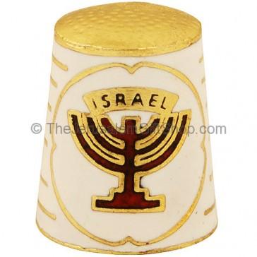Thimble with Israel and Menorah