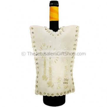 Wine Bottle Cover - Shabbat Shalom