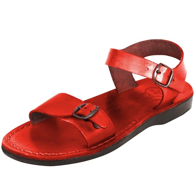 Camel Leather Jesus Sandals Jerusalem Style Colored