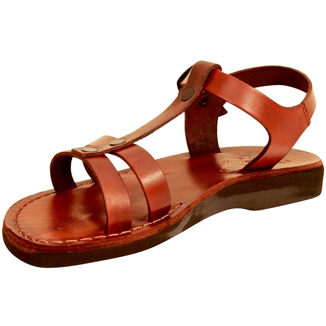 552218a3db13 ... Biblical Jesus Sandals - Gideon - Made in Bethlehem - side view 2