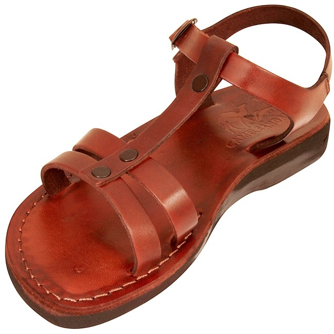 c67c75ba8335 ... Biblical Jesus Sandals - Gideon - Made in Bethlehem - top view ...