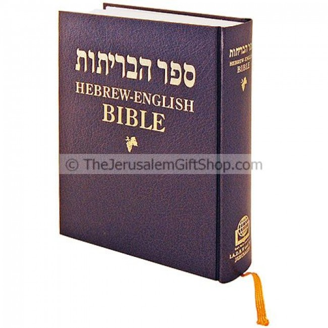 Vintage Leather Look Jeremiah Verse Bible Book Cover Large: Hebrew English Parallel Bible