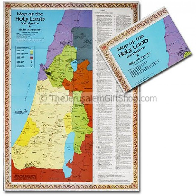 Map of the Holy Land for Pilgrims and Bible Students  Holy Land