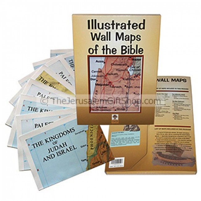 Illustrated Wall Maps Of The Bible Holy Land Christian Gifts