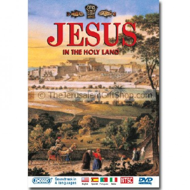 Vintage Leather Look Jeremiah Verse Bible Book Cover Large: Jesus Holy Land DVD