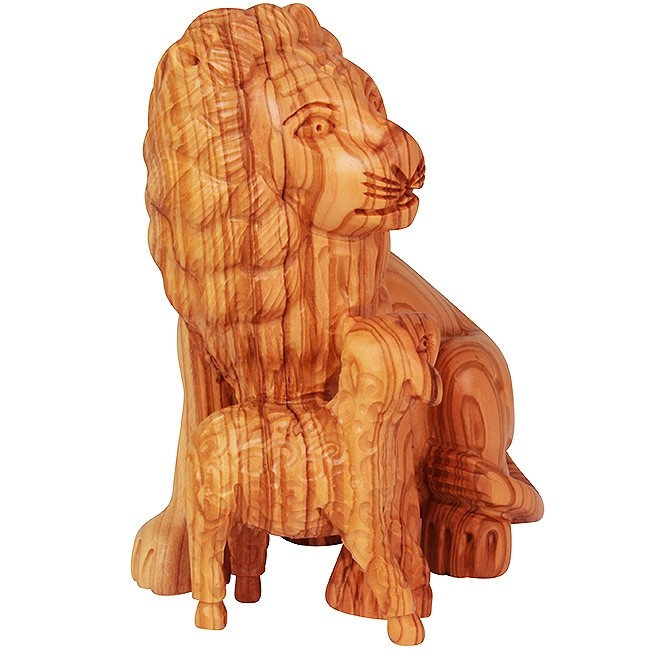 The Lion Of Judah And The Lamb Of God Olive Wood