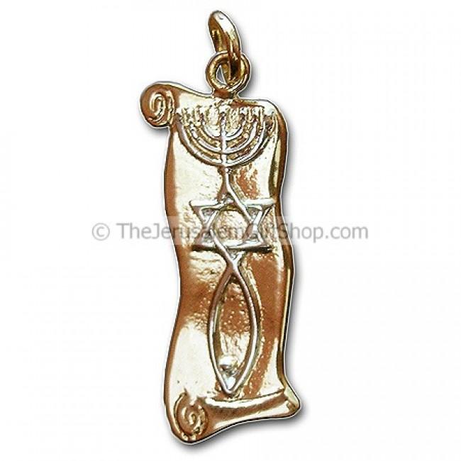 Gold Messianic Symbol Pendant | Idan Jewelry