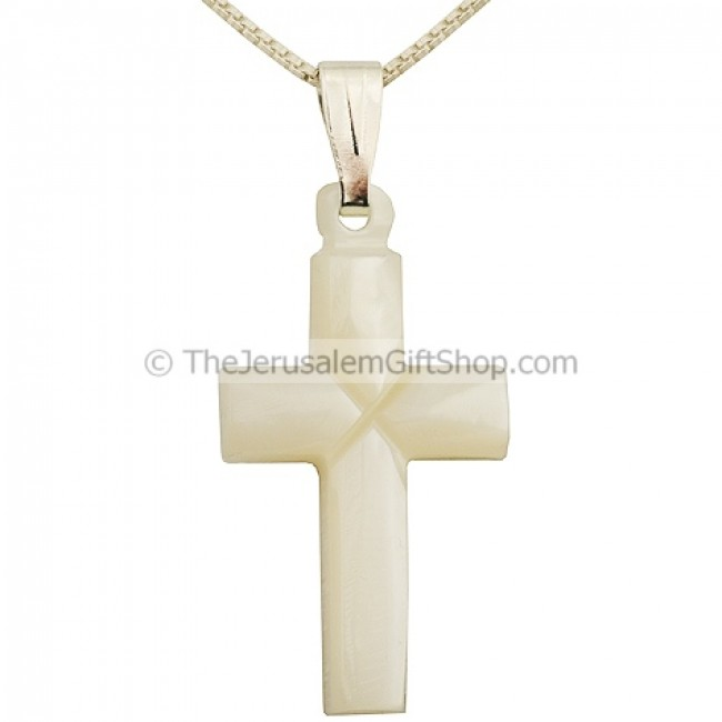 Bethlehem made mother of pearl cross pendant holy land christian mother of pearl cross pendant aloadofball Gallery