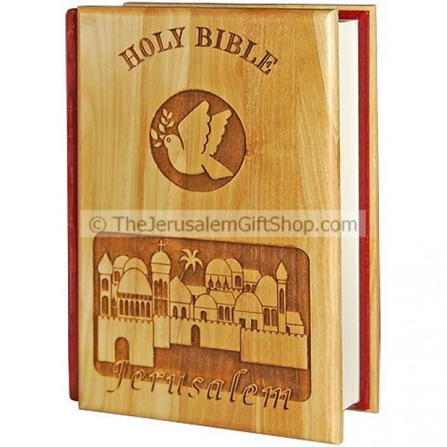 Bible King James Version Olive Wood Jerusalem Holy Land