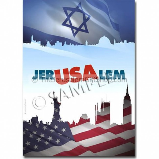 Httpwww Overlordsofchaos Comhtmlorigin Of The Word Jew Html: Israeli American Jer-USA-lem Poster
