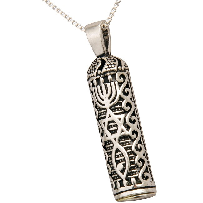 Shema Israel 925 Sterling Silver Pendant And Chain
