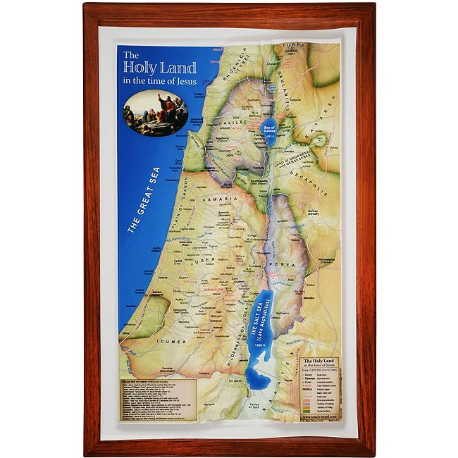 Raised Relief 3d Map Of The Holy Land In Time Of Jesus