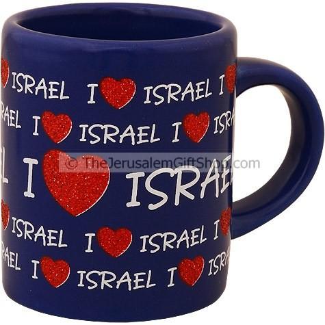 "collection of Israel pictures/"" I love Israel/"",souvenir Israel Mug"