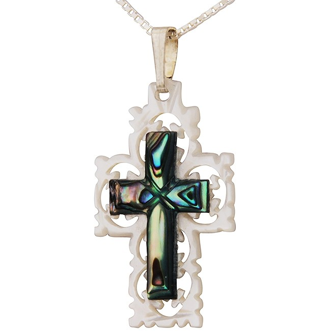 Mother Of Pearl Cut Out Design With Abalone Shell Inlay