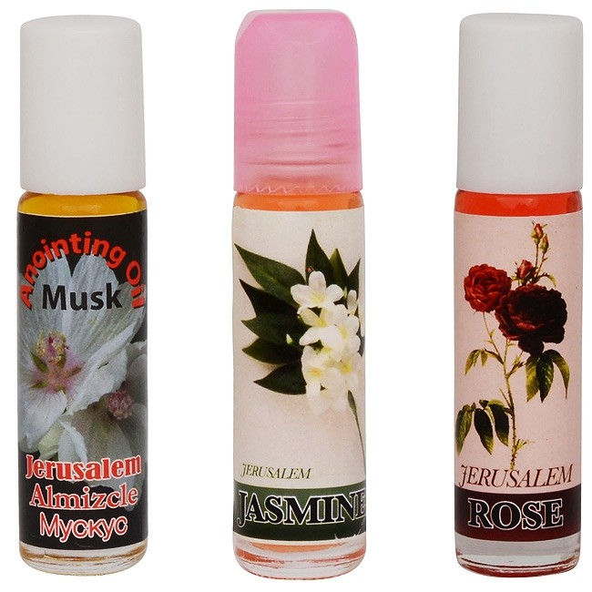 Musk Jasmine And Rose Anointing Oil Set From The Holy Land