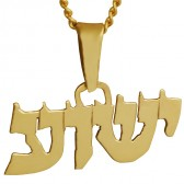 14 carat Gold Yeshua in Hebrew Pendant
