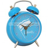 Alarm Clock - Israeli Flag with Hebrew Numerals
