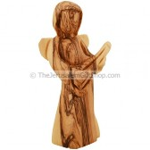 Olive Wood Angel Playing a Lute