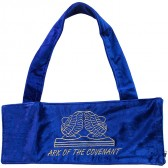 Ram's Horn Shofar Bag | Ark of the Covenant | Blue Velvet