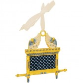 Ark of the Covenant Decorative Wall Hanging - Blue Enamel with Crystals