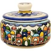 Jerusalem Sugar Pot - Small Round