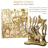 BAPTISM OF JESUS | DIY Wood 3D Puzzle | Educational Self Assembly Craft | Made in the Holy Land
