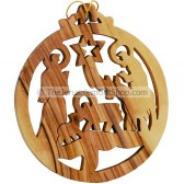 Christmas Tree Decoration from Bethlehem Olive Wood