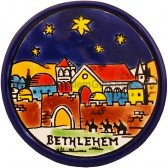 Coaster - Bethlehem at Night with Stars