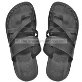 Black leather Biblical Bethlehem Sandals