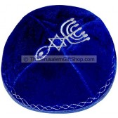 Velvet Grafted In Kippa - Blue