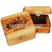 Olive Wood Noah's Ark Box