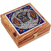 Ceramic Tile Olive Wood Box - Tabgha