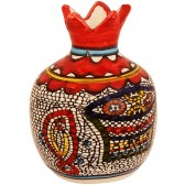 Ceramic Pomegranate - Tabgha (Loaves and Fishes)