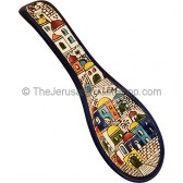 Armenian Ceramic 'Jerusalem' Spoon