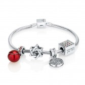'GraceLet - BraceLet' Biblical Elements - Hoshen - Shema Yisrael - Star of David & Pomegranate